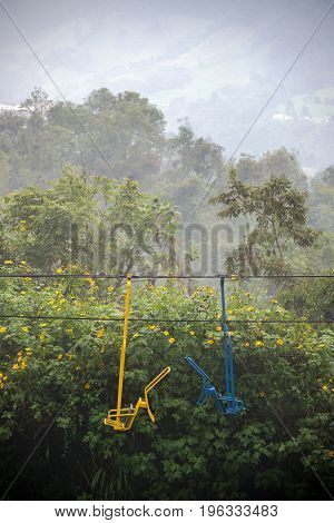 Chair Lift Near Manizales, Colombia