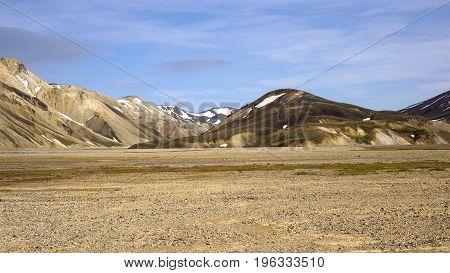 The Rainbow Mountains in Landmannalaugar in Iceland