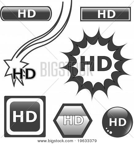 Hd Glossy Web Button Set
