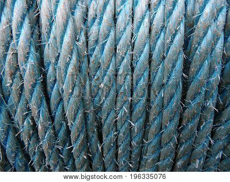 Hemp rope  -  blue background , rope ,