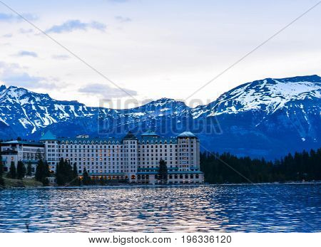 A Building in Lake Louise and Rocky Mountains