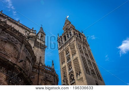 The Giralda Bell Tower In Seville, Spain, Europe
