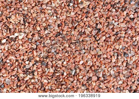 Close-up photo of red sand texture. High resolution bacground.
