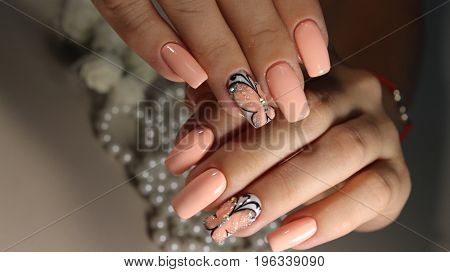 Youth Design Of Nails Manicure Pattern
