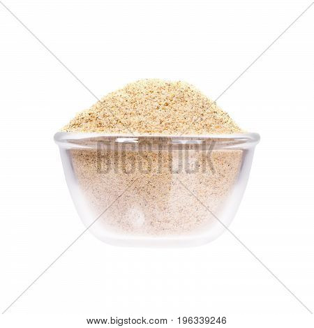 Sesame seeds in saucepan, close up. High resolution photo.