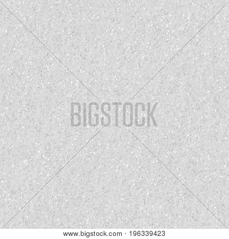 White glitter texture christmas background. Low contrast photo. Seamless square texture. Tile ready.