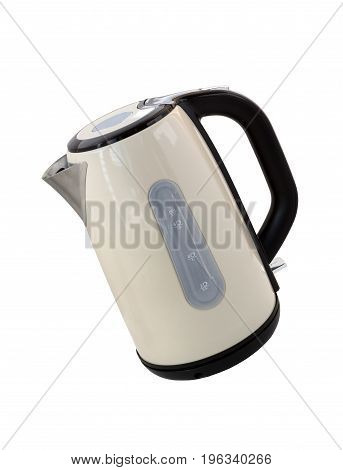 Kettle isolated on a white background. Modern electric kettle.