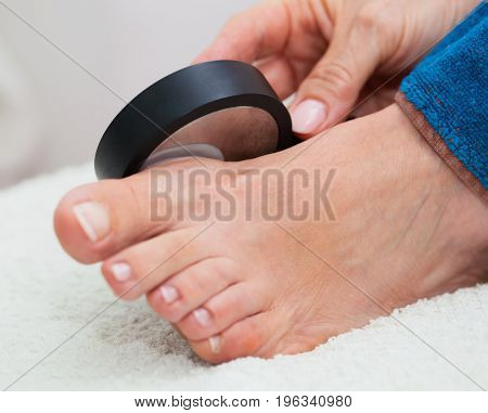 Ultrasound Treatment On The Foot