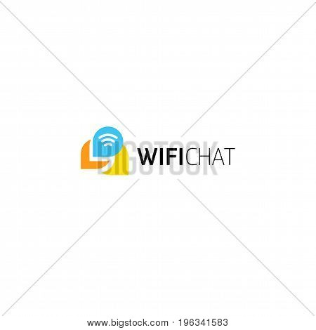 Internet forum, live communication in real time. Abstract icon indicating a conversation or dialogu or discussion between people