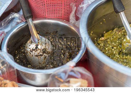 Chili Sauce, Chili Paste Or Pepper Sauce In Market