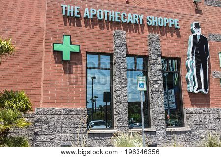 Las Vegas - Circa July 2017: The Apothecary Shoppe Marijuana Dispensary. As of 2017 Recreational Pot is legal in Nevada VII