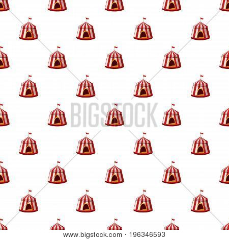 Circus tent pattern seamless repeat in cartoon style vector illustration