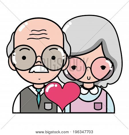 couple with beauty relation ships and heart vector illustration