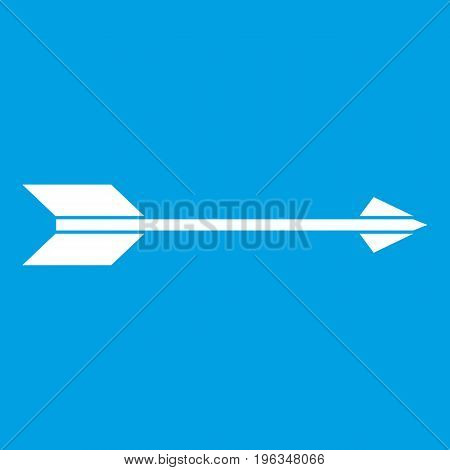 Long arrow icon white isolated on blue background vector illustration