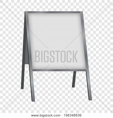 White blank sandwich board mockup. Realistic illustration of white blank sandwich board vector mockup for web