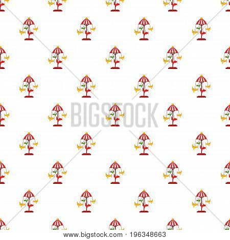 Childrens carousel with planes pattern seamless repeat in cartoon style vector illustration