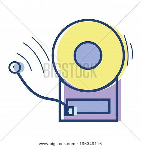 school bell education alarm alert vector illustration