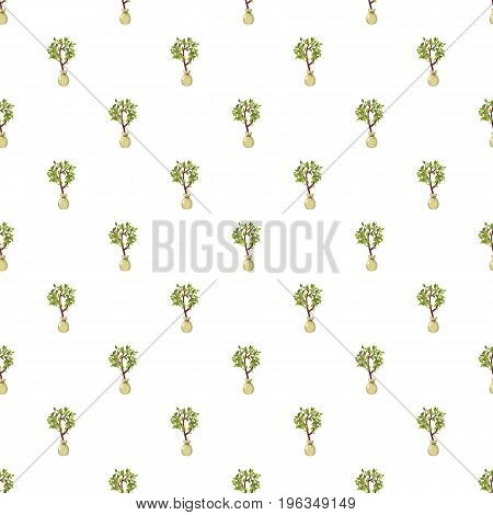 Seedling pattern seamless repeat in cartoon style vector illustration