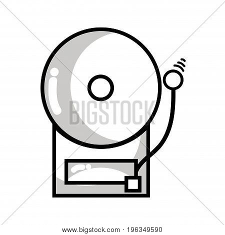line school bell education alarm alert vector illustration