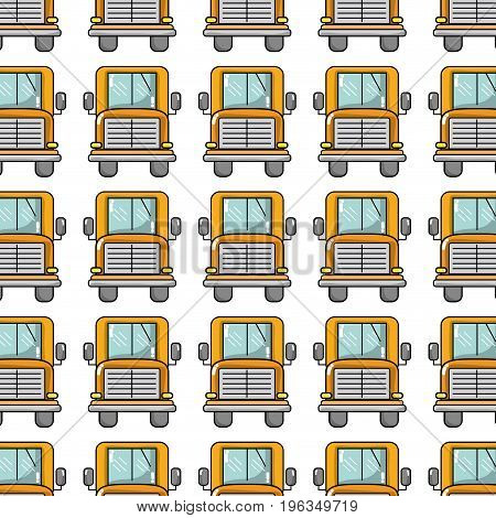 yellow school bus to children transportation background vector illustration