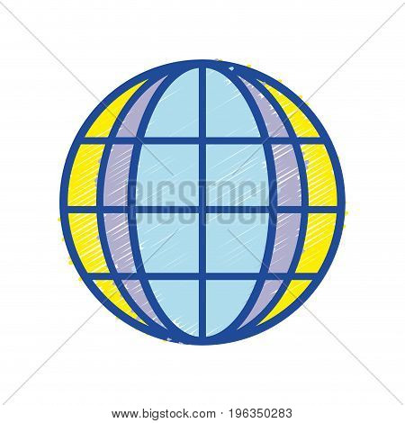 global earth planet to exploration ubication vector illustration