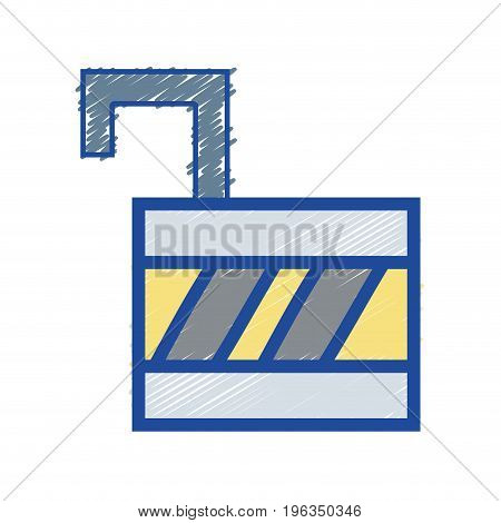 padlock open element to protection the information vector illustration