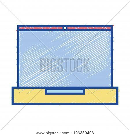 laptop electronic technology to information connection vector illustration