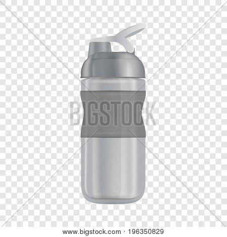 Reusable water bottle i mockup. Realistic illustration of reusable water bottle i vector mockup for web