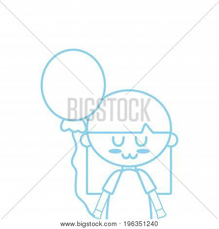 silhouette beauty girl with balloon and hairstyle design vector illustration