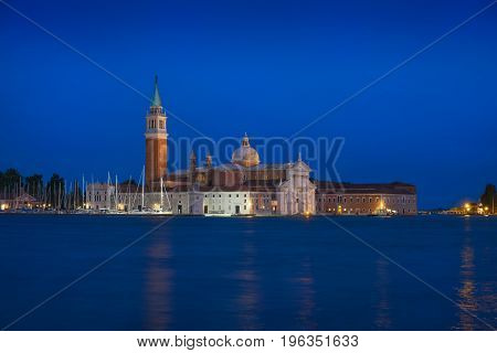 View from piazza San Marco of the Chiesa di San Giorgio Maggiore