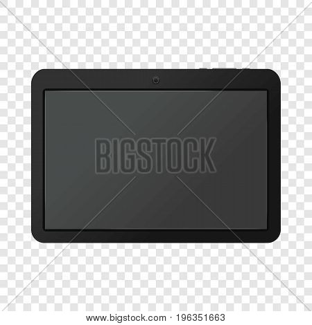 Modern portable touch pad device mockup. Realistic illustration of modern portable touch pad device vector mockup for web
