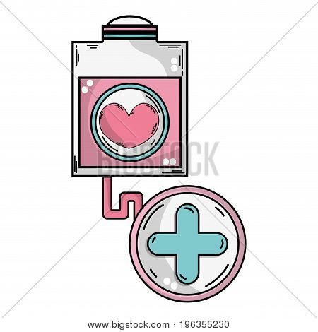 transfusion tool with cross clinical symbol vector illustration