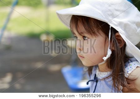 Japanese Girl On The Swing (2 Years Old)