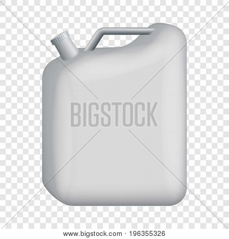 Blank jerrycan mockup. Realistic illustration of blank jerrycan vector mockup for web