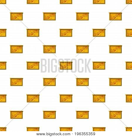Bee honeycombs pattern seamless repeat in cartoon style vector illustration