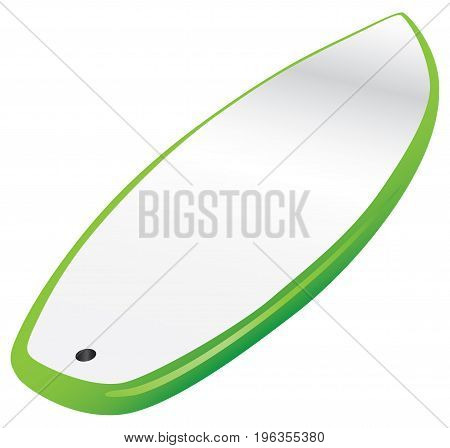 Classical drawing board to the surfer. Vector illustration.