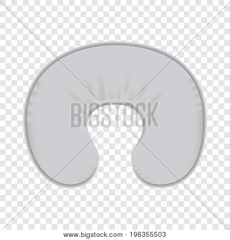 White neck pillow mockup. Realistic illustration of white neck pillow vector mockup for web