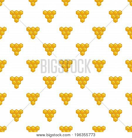 Honeycomb pattern seamless repeat in cartoon style vector illustration