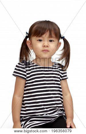 Smiling Japanese Girl (2 Years Old) (white Back)