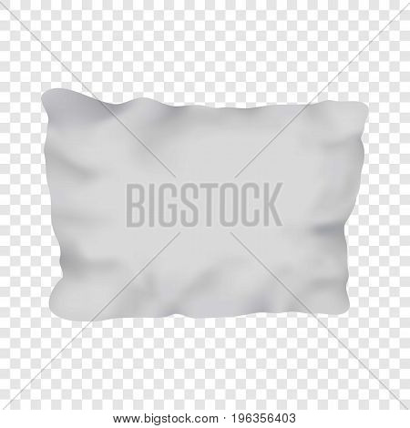 White rectangular pillow mockup. Realistic illustration of white rectangular pillow vector mockup for web