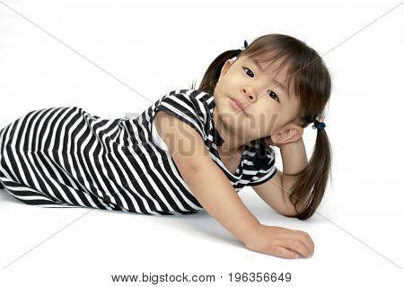 Lying Japanese Girl (2 Years Old)