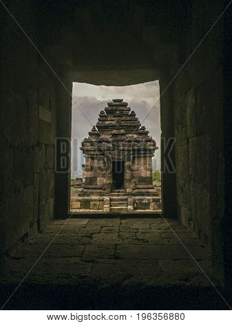 a frame of Ijo Temple at Jogjakarta Indonesia