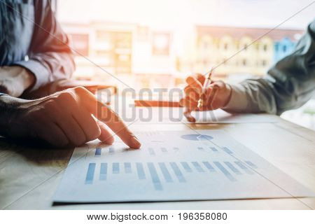 Business People Meeting Planning Budget And Cost Strategy Analysis  Concept
