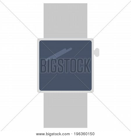 Smart watch vector illustration. Flat style design. Colorful graphics