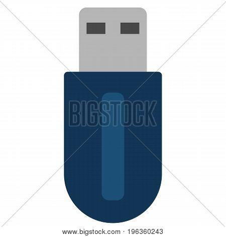 USB flash card vector illustration. Flat style design. Colorful graphics