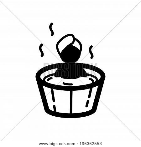 Simple thin line soaking treatment icon vector