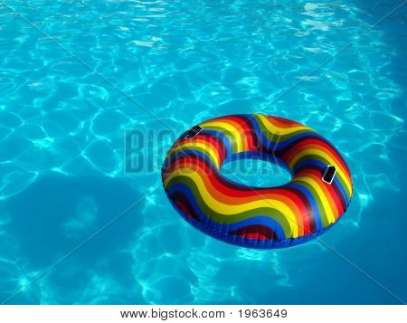 Swimming Pool With Rubber Ring
