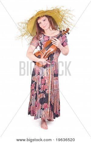 woman with the viola
