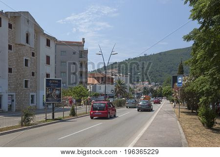 On The Streets Of Budva In The Season A Large Enough Movement