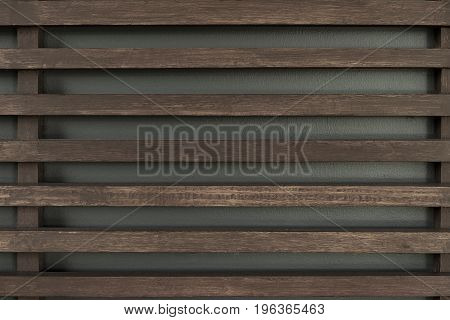 Raw wood wooden slatted fence or lath wall background texture vintage tone with vignet